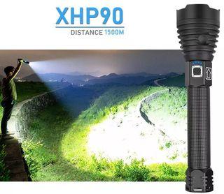 Súper Linterna Táctica Porra Recargable XHP-90