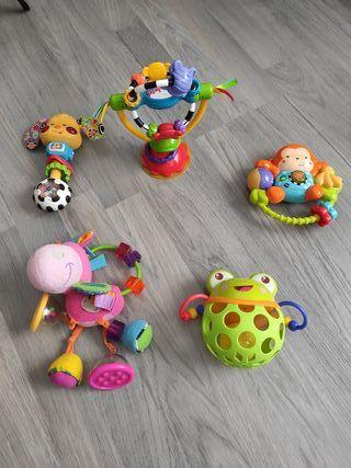Lote juguetes bebe sonajero