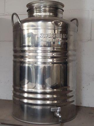 Deposito 50L Inox con grifo de vaciado