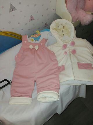 Conjunto mono y chaqueta niña invierno