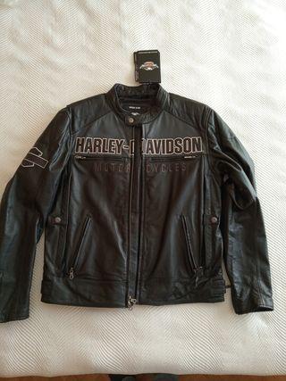Cazadora piel Harley Davidson nueva