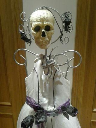 Disfraz Halloween novia cadáver, talla 14 años