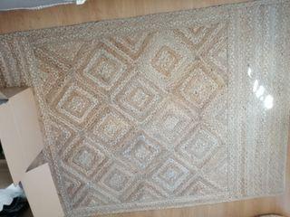 alfombra yute étnica