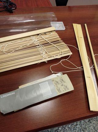 Persiana cortina estor Ikea madera 60x150