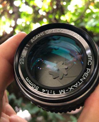Objetivo pentax 50 mm f 1.4
