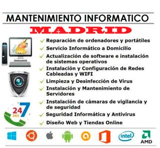 INFORMÁTICO A DOMICILIO EN MADRID - REPARAR PC