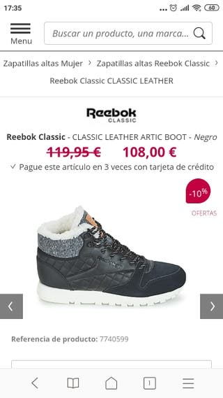 zapatillas Reebok nuevas,sin estrenar.
