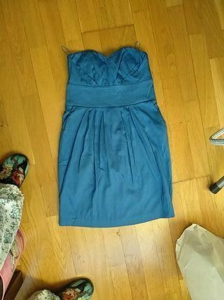 Vestido nuevo talla S stradivarius Azul