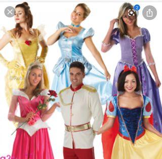 Lote disfraces Princesas Disney originales.