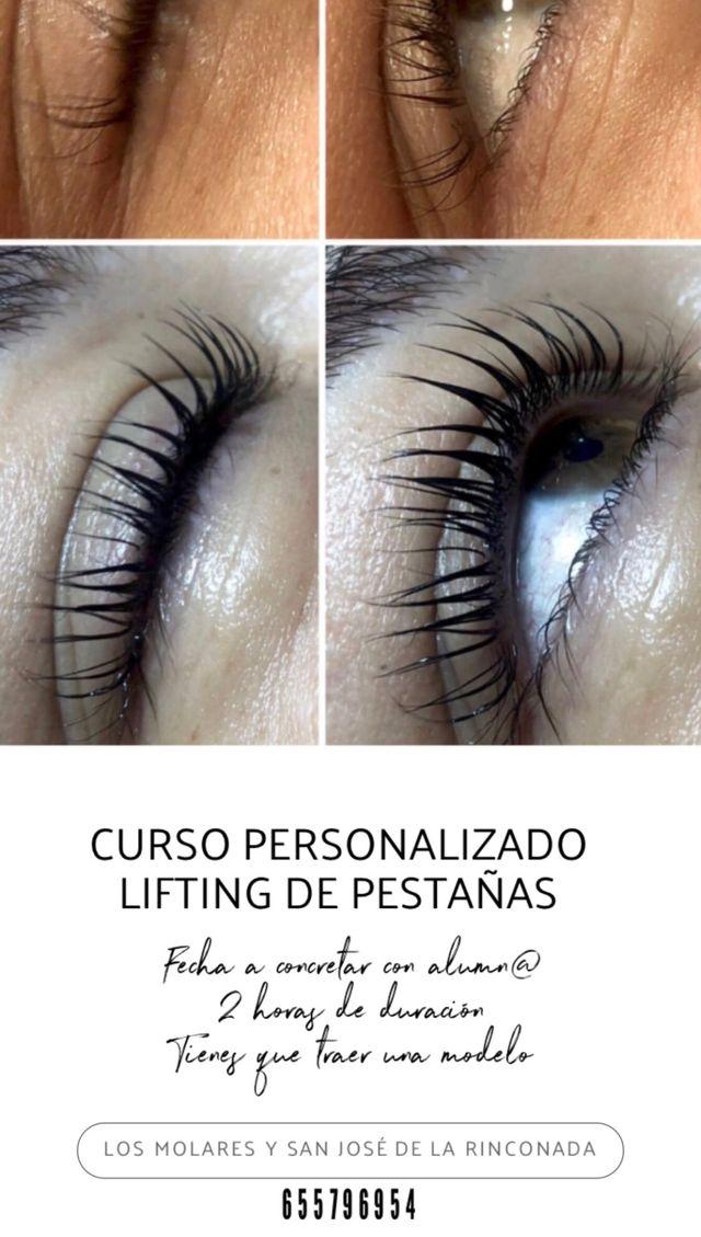 Curso lifting, tinte, queratina y botox. Pestañas