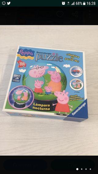 Lampara esferica de Peppa Pig