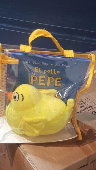 Libro con peluche El pollo Pepe