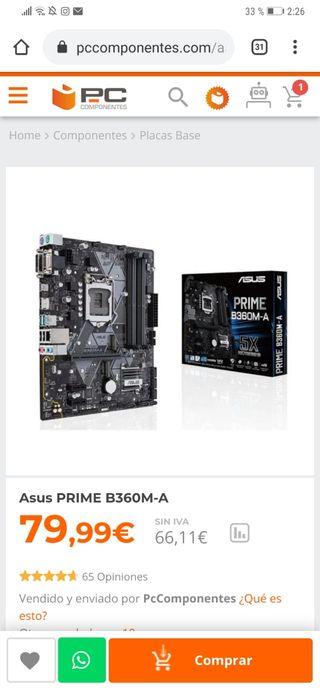 Placa base Asus PRIME B360M-A