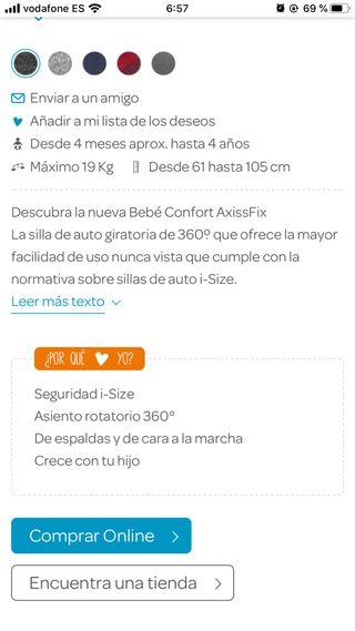 Silla auto isofix 9-18 kg