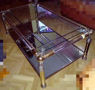 Mesa baja de cristal 40€