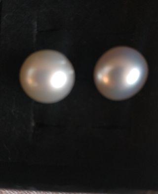 Pendientes perla australiana