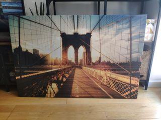 Cuadro lienzo IKEA puente Brooklyn