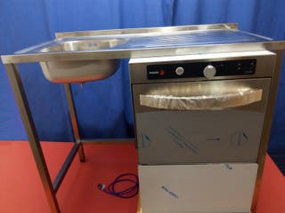 Fregadero barra bar con hueco lavavasos