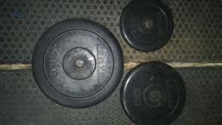 Discos pesas 20kg 10kg 5kg