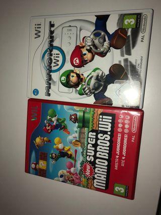 Mariokart y Supermariobros Wii