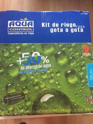 Kit riego gota a gota + temporizador