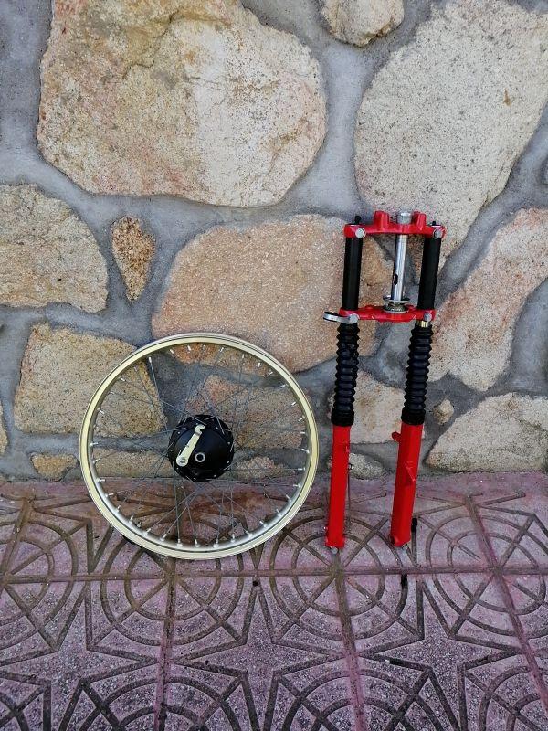Horquilla y rueda delantera Montesa 125 H6