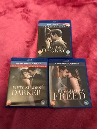 Fifty Shades Of Grey Complete Blu Ray Set
