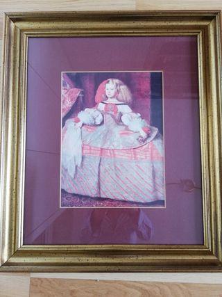 Cuadro Velázquez enmarcado