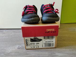 Zapato piel Camper Peu niño 24. Usadas un día.