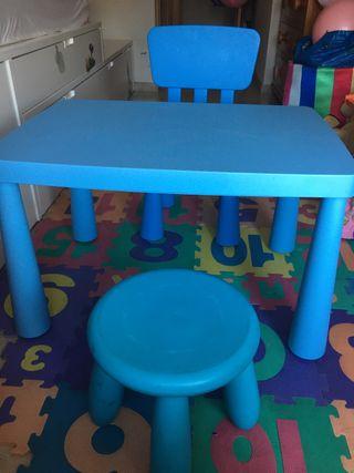 Mesa y silla mamut