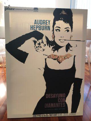 Lienzo sobre marco de madera Audrey Hepburn