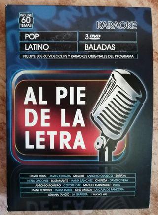 """DVD Karaoke """"Al Pie de la Letra"""""""
