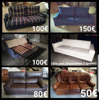 Disponemos de sofás de segunda mano en perfectas c
