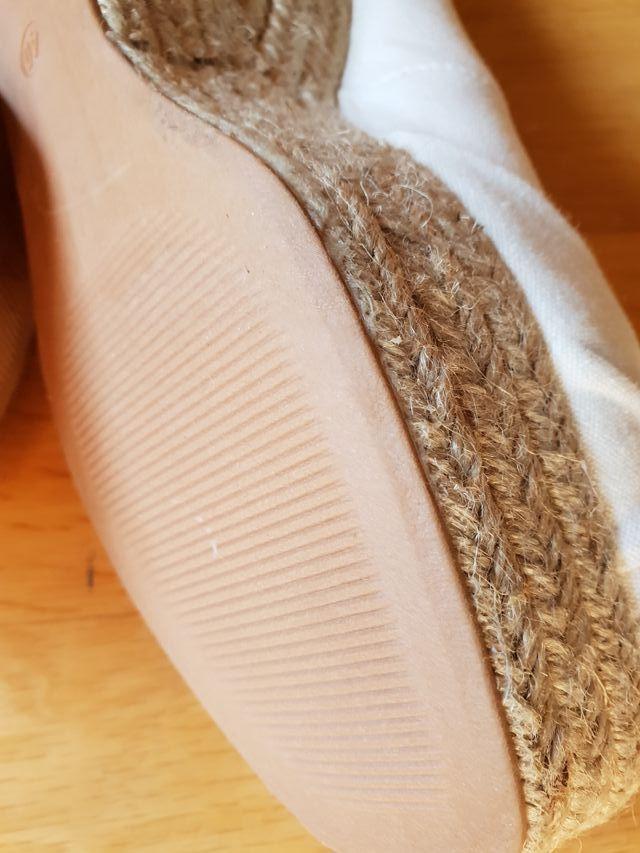 Sandalias loneta blancas