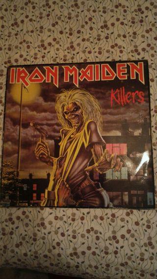 """Disco de vinilo Iron Maiden """"KILLERS""""."""