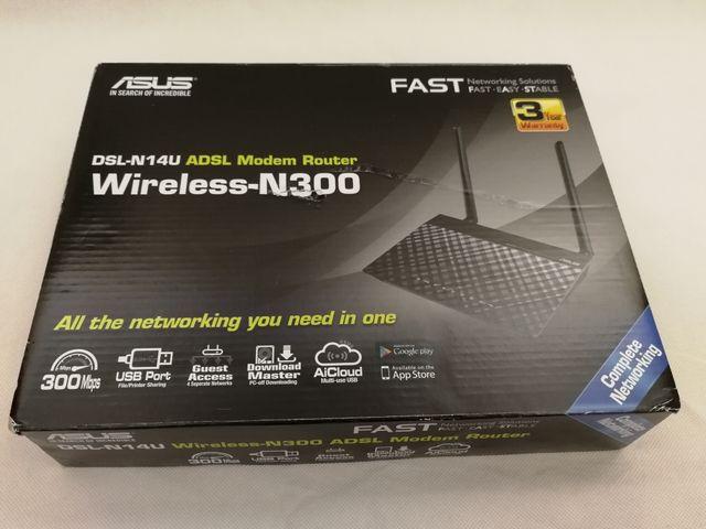 Asus DSL-N14U ADSL modem router Wireless-N300