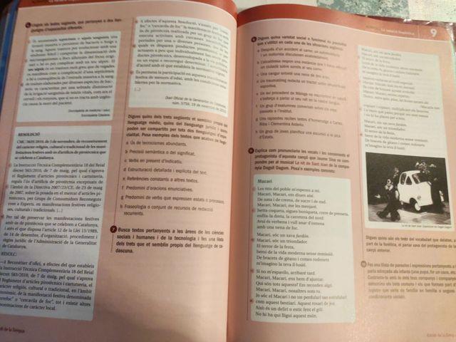 Libro lengua catalana 1º de bachillerato