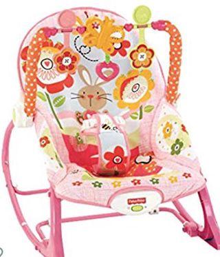 Hamaca bebé fisher price rosa