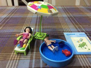 Playmobil 4864 Sombrilla, Hamaca y Piscina
