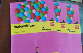 Libros de matemáticas 4° primaria editorial SM. Su