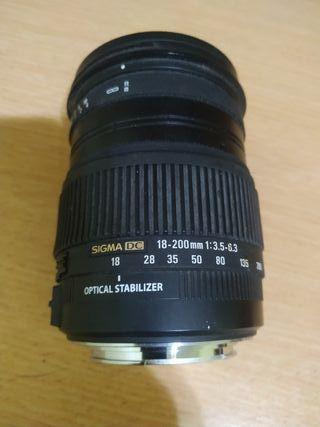Sigma 18-200 para Canon
