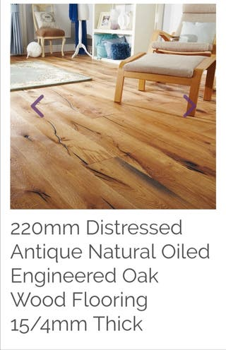 Distressed Antique Natural Oiled Wooden Flooring