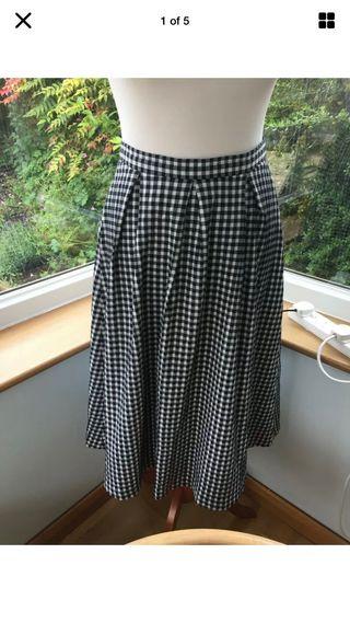Topshop check skirt size 10