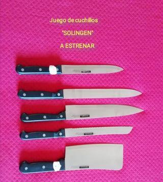 """Juego de cuchillos """"SOLINGEN"""""""