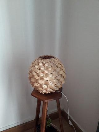 Lampe en osier