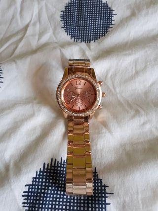 Reloj bronce rosa