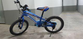 bicicleta niño 16 pulgadas megamo