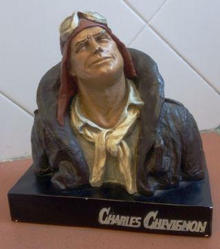 Escultura busto vintage Charles Chevignon