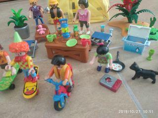 Playmobil tienda campaña y complementos