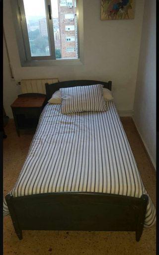 Dormitorio completo madera de pino
